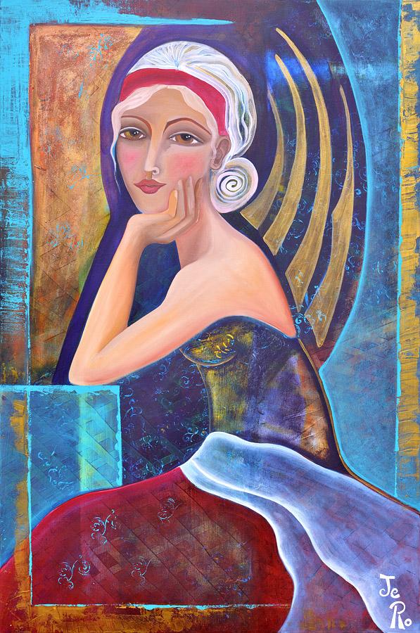 Die Engelin Acryl auf Leinwand 120 x 80