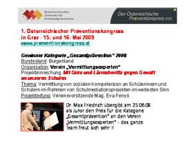 Präventionspreis 2009!