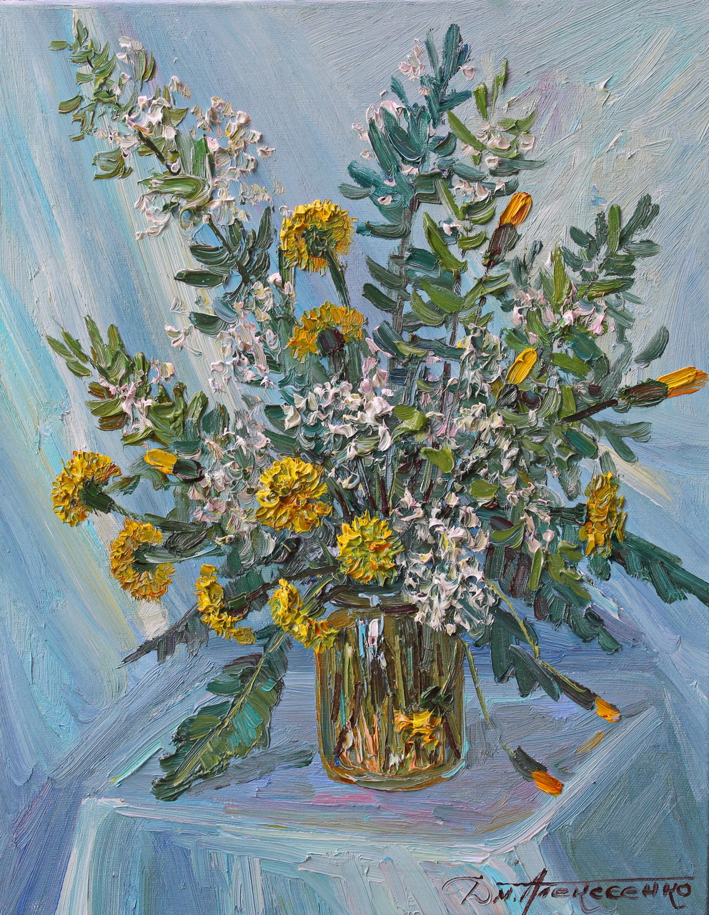 """Весенние цветы"" Х.,м. 50х60 2015 г."