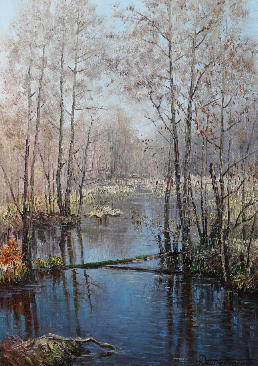 """Лесной ручей"" Х.,м. 100х70 2016 г."