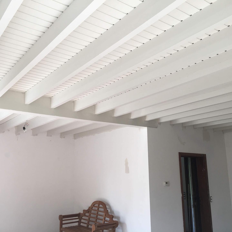 Plafond en lambris peints
