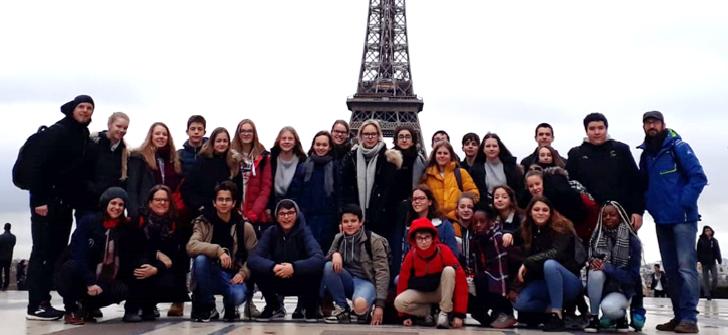 Die TeilnehmerInnen des Schüleraustausches im Januar 2020