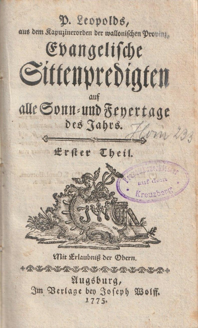 Leopold von Tirschenreuth – ein Stiftländer Kapuzinerprediger in den Österreichischen Niederlanden