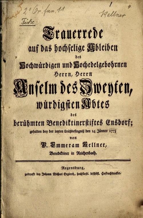 Ensdorf als Literaturort: Drucke von Gastpredigten
