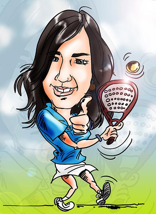 Caricatura personalizada a color, una persona: 20€