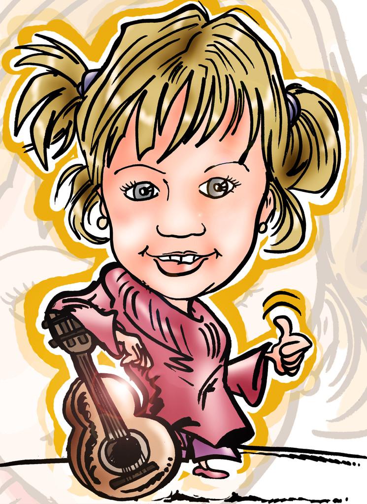 Caricatura de una persona a color, por tan sólo 20€