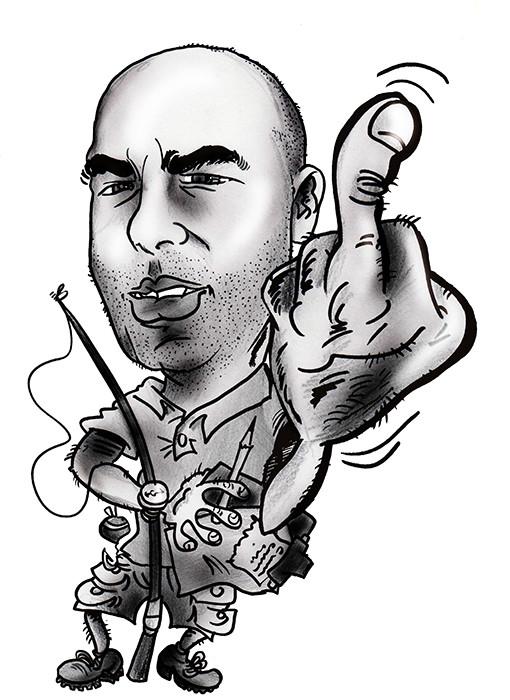 Caricatura individual en blanco y negro, por tan solo 15€