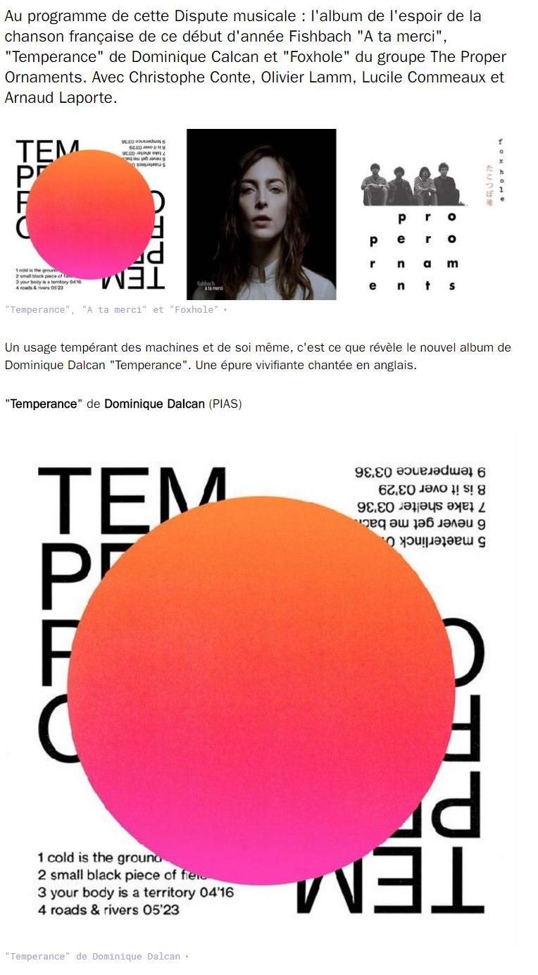 LA DISPUTE - FRANCE CULTURE - 26 Janvier 2017 (cliquer pour écouter l'émission)