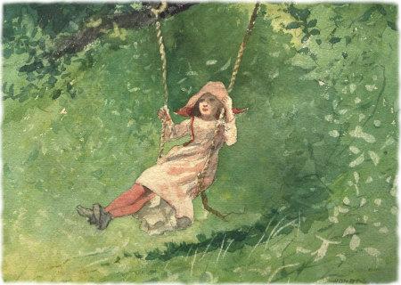 Winslow Homer: Girl on a Swing