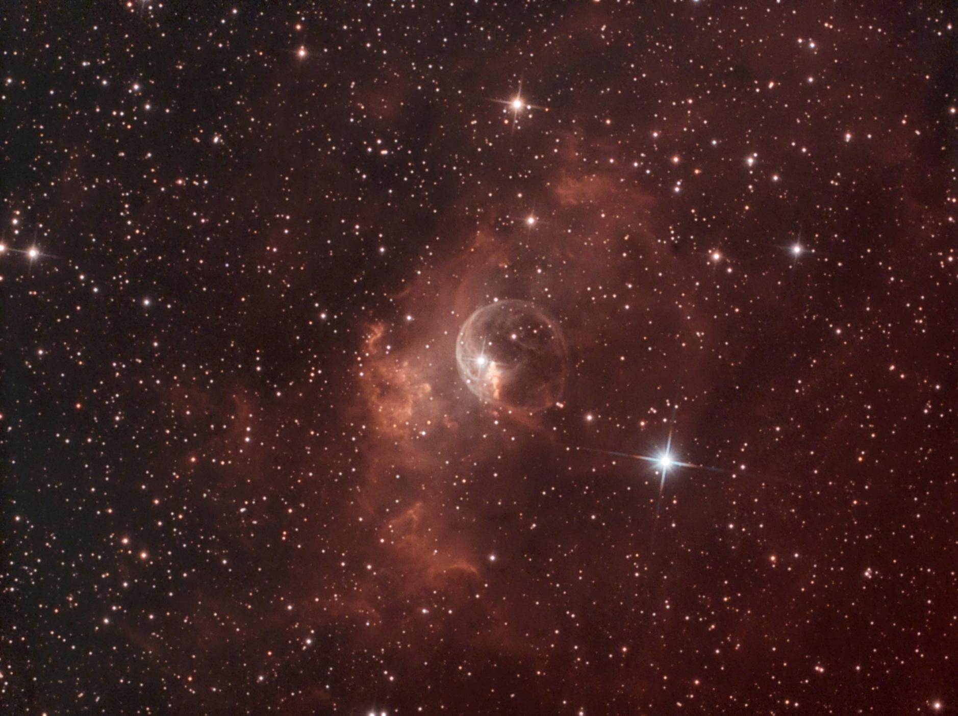 "NGC 7635, TS RC8"", Astro Physics Reducer, Atik 428color, UHC Filter, UV/IR Filter, 131x300s (Aufnahmen teilweise bei Vollmond entstanden)"