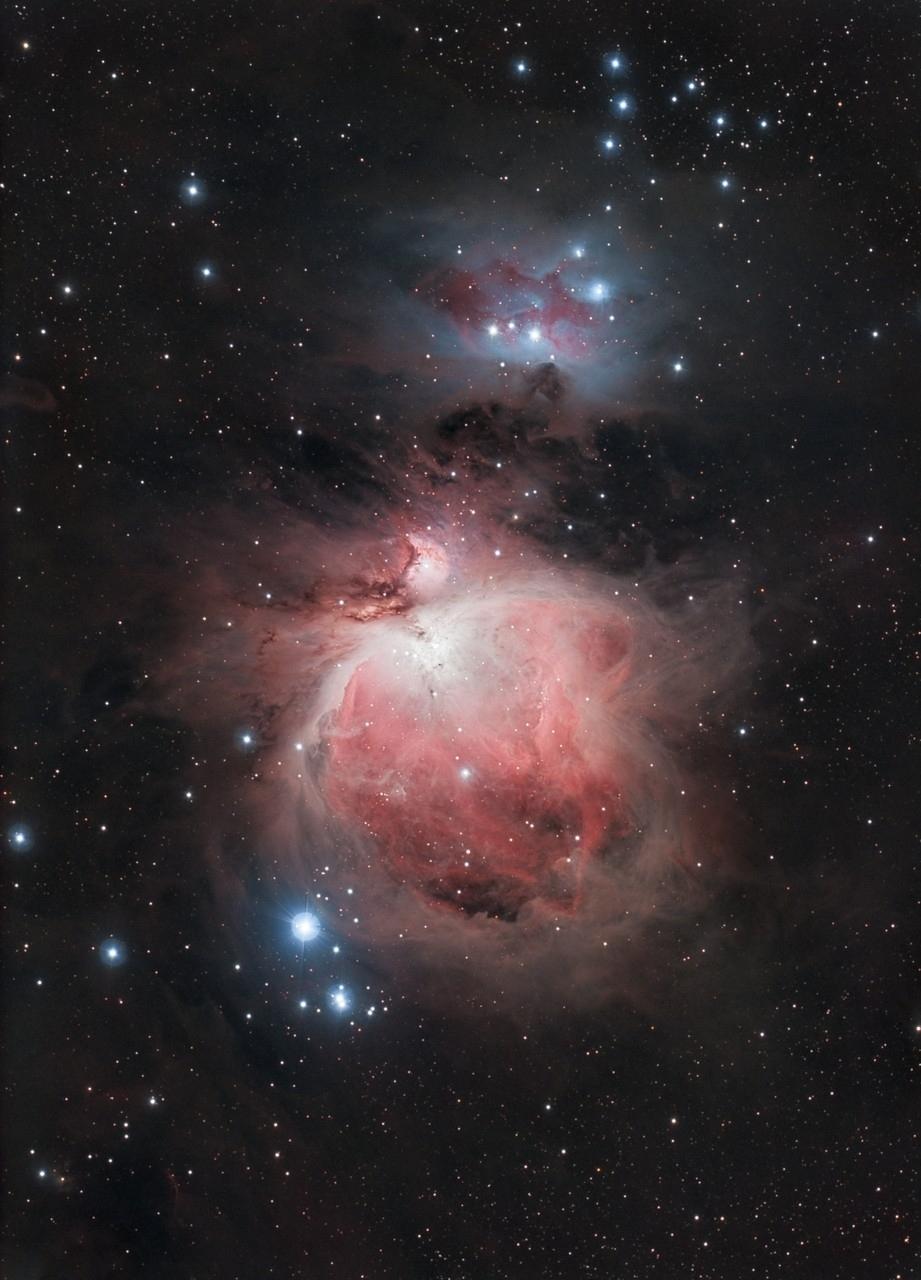 """M42, EdgeHD11"""" mit Hyperstar, Alccd10, Kombination von Aufnahmen mit CLS-CCD Filter, Baader Neodymiumfilter"""