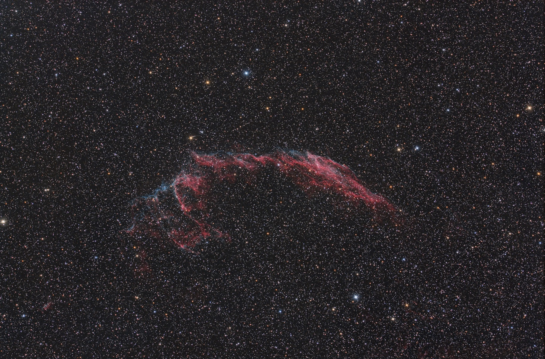 "NGC 6992, EdgeHD11"" mit Hyperstar, Alccd10, Baader Neodymiumfilter, 35x300s"
