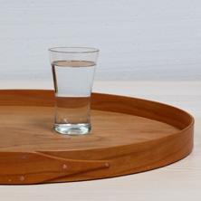 ovales Tablett/ Kirschbaum