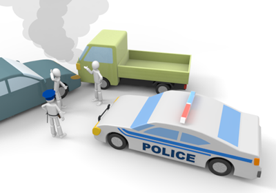 佐倉市の交通事故治療 かぶらぎ整骨院 事故イメージ画