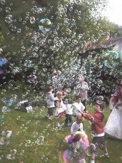 machine à bulles extérieur