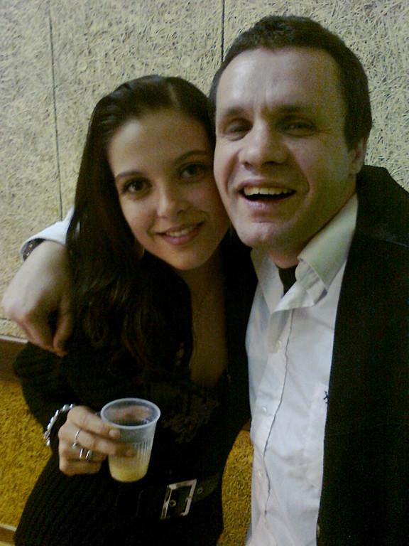 Dj Stéphane et une jeune actrice