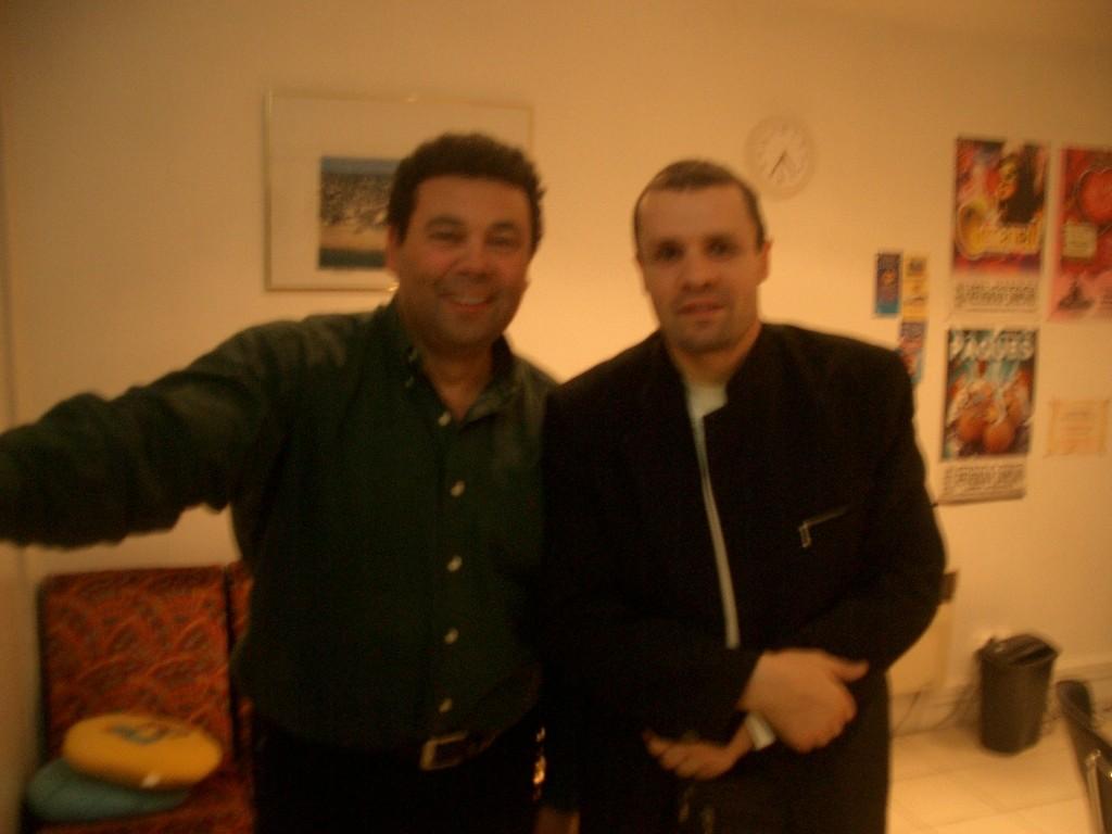 Eddy Chanteur antillais et Stéphane