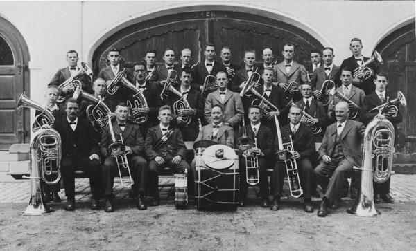 erstes Foto aus dem Jahre 1936, Dirigent Gottlieb Blatter