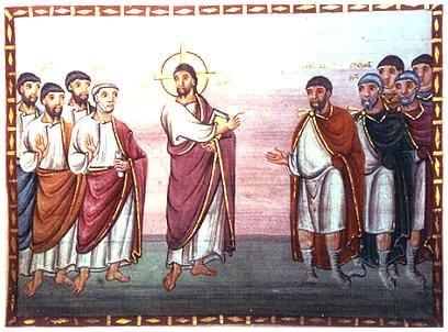 Christus und der Hauptmann von Kapernaum. Egbert-Codex