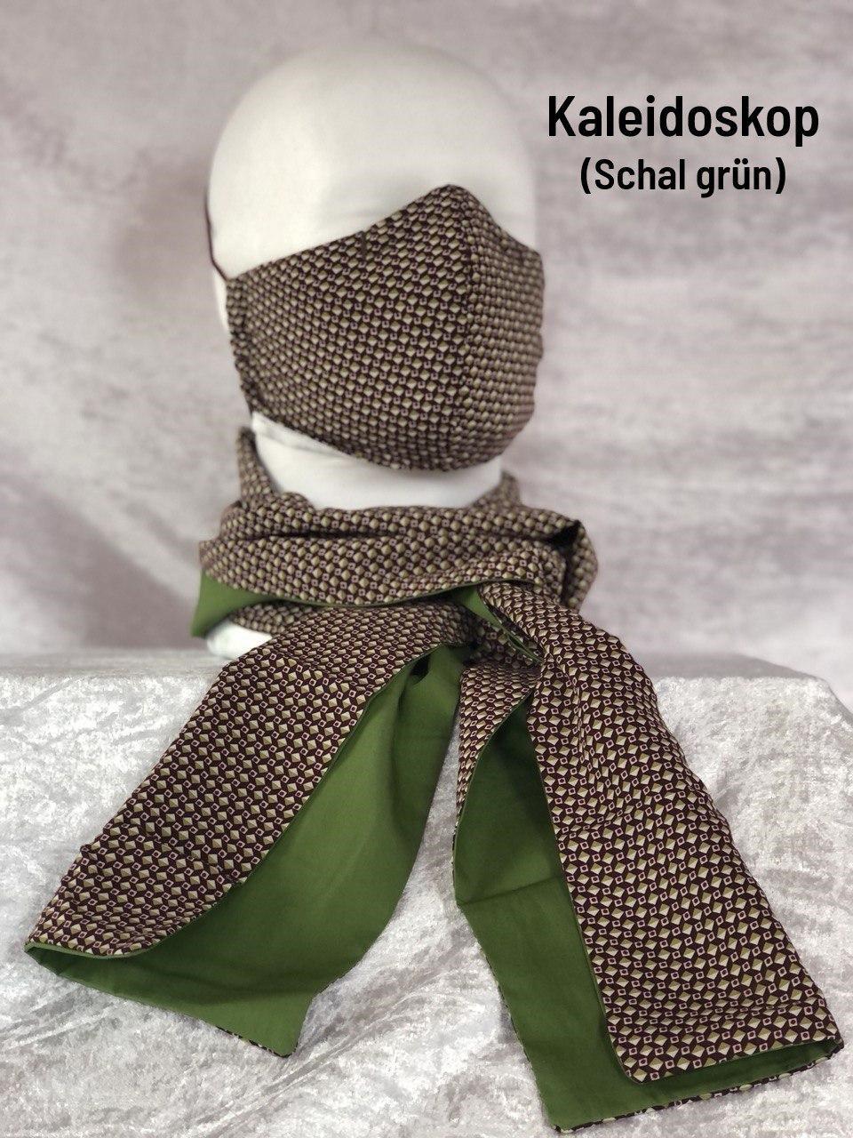 A1 - Maske + Schal grün