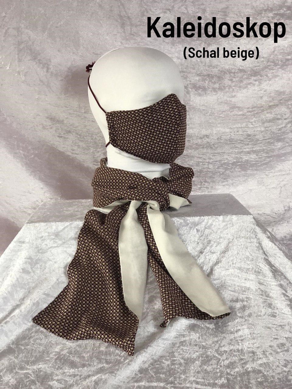 A2 - Maske + Schal beige