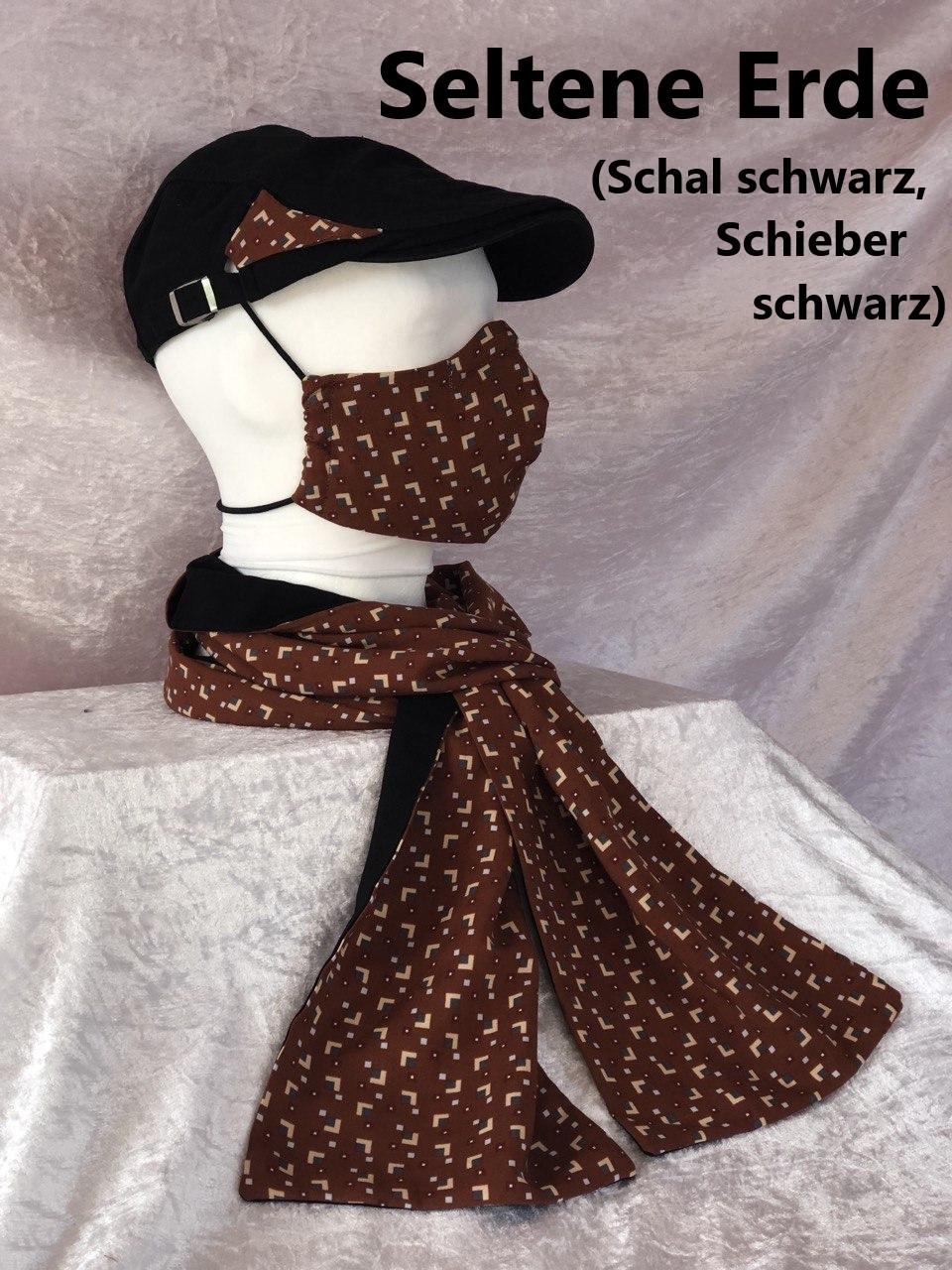 B1 - Maske + Schal + Schieber schwarz