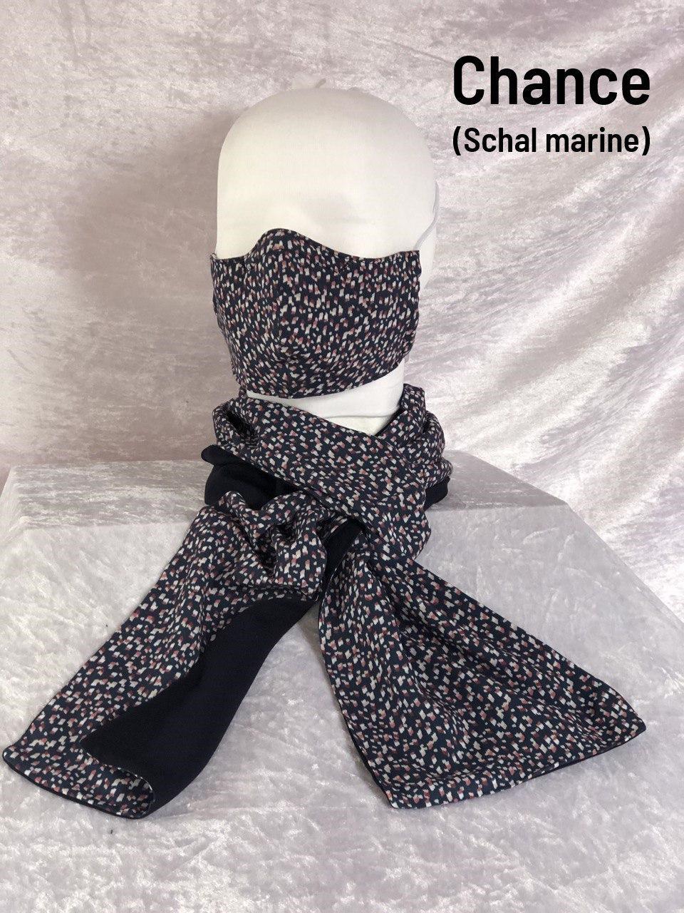 A1 - Maske + Schal marine