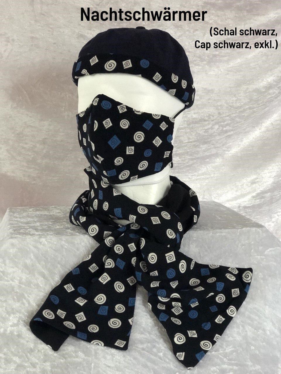 C1  - Maske + Schal + Cap schwarz exklusiv
