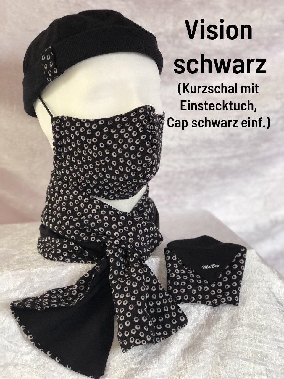 D - Maske + Schal + Cap einfach + Einstecktuch