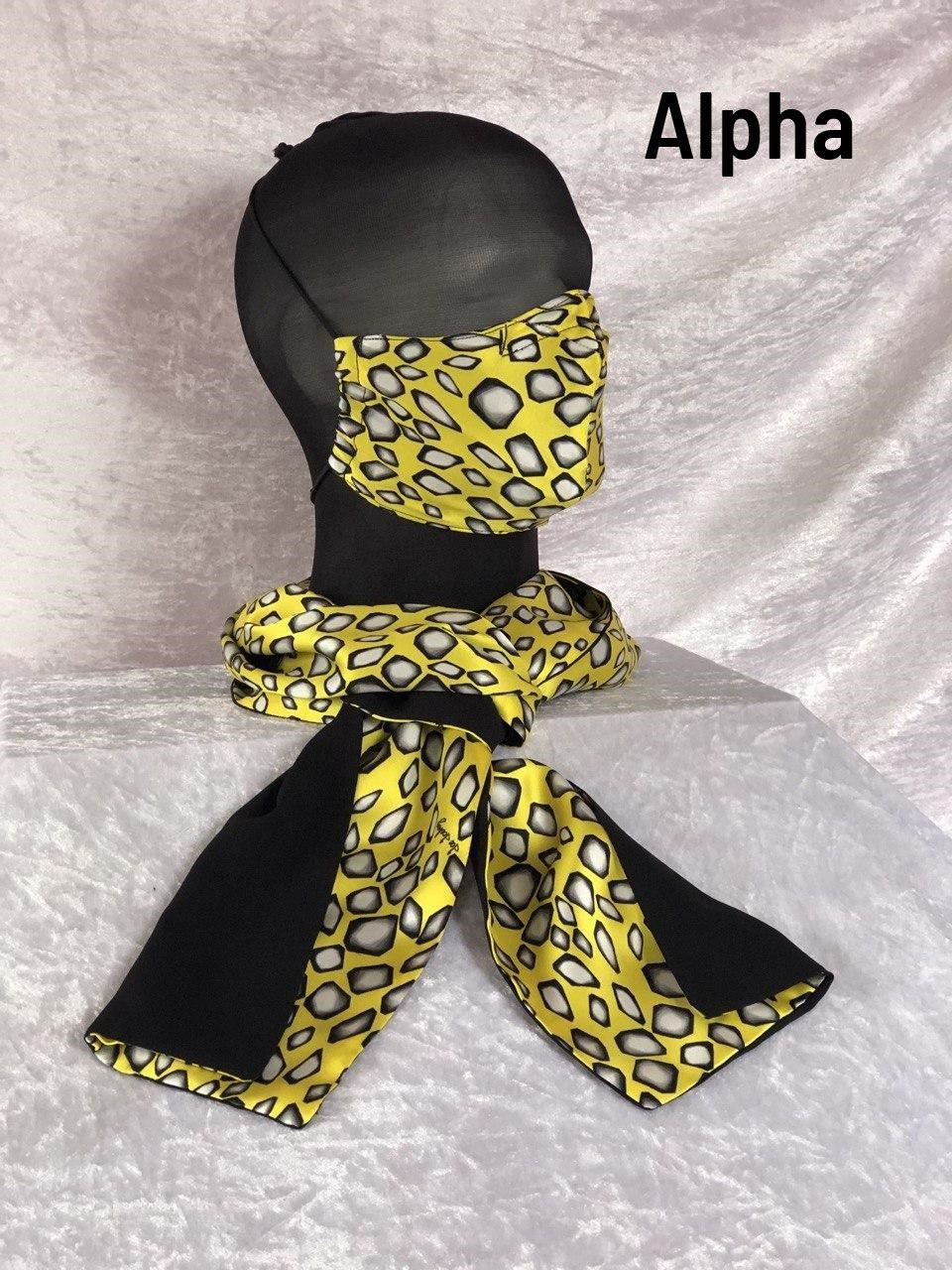 A - Maske + Schal
