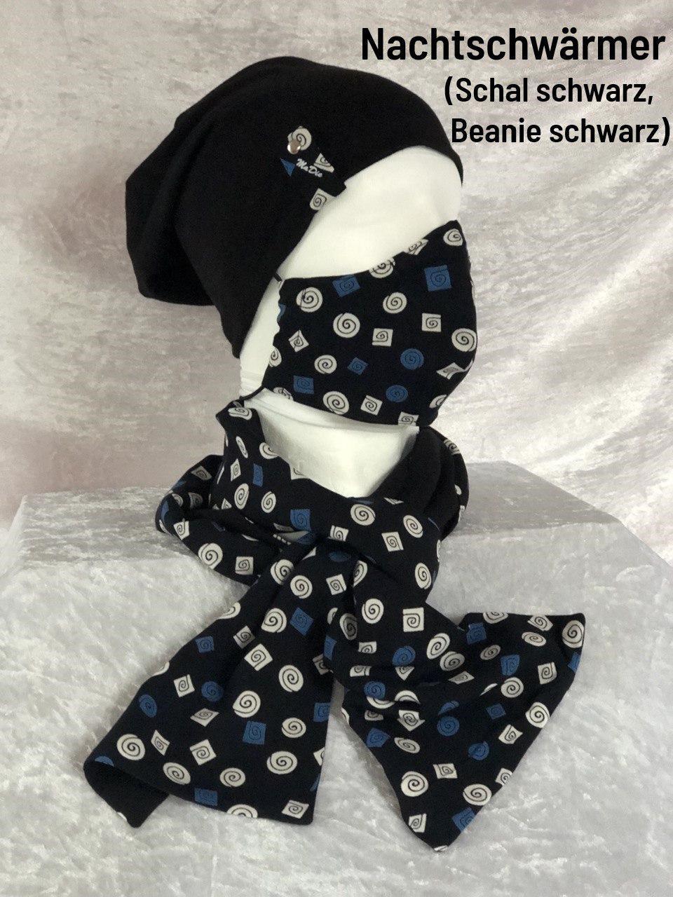 G - Maske + Schal + Beanie schwarz