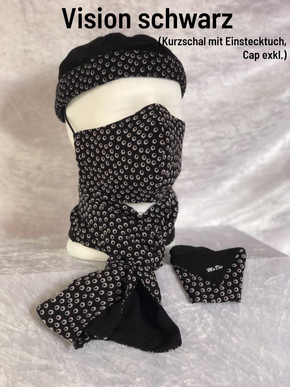 C - Maske + Schal + Cap exklusiv + Einstecktuch
