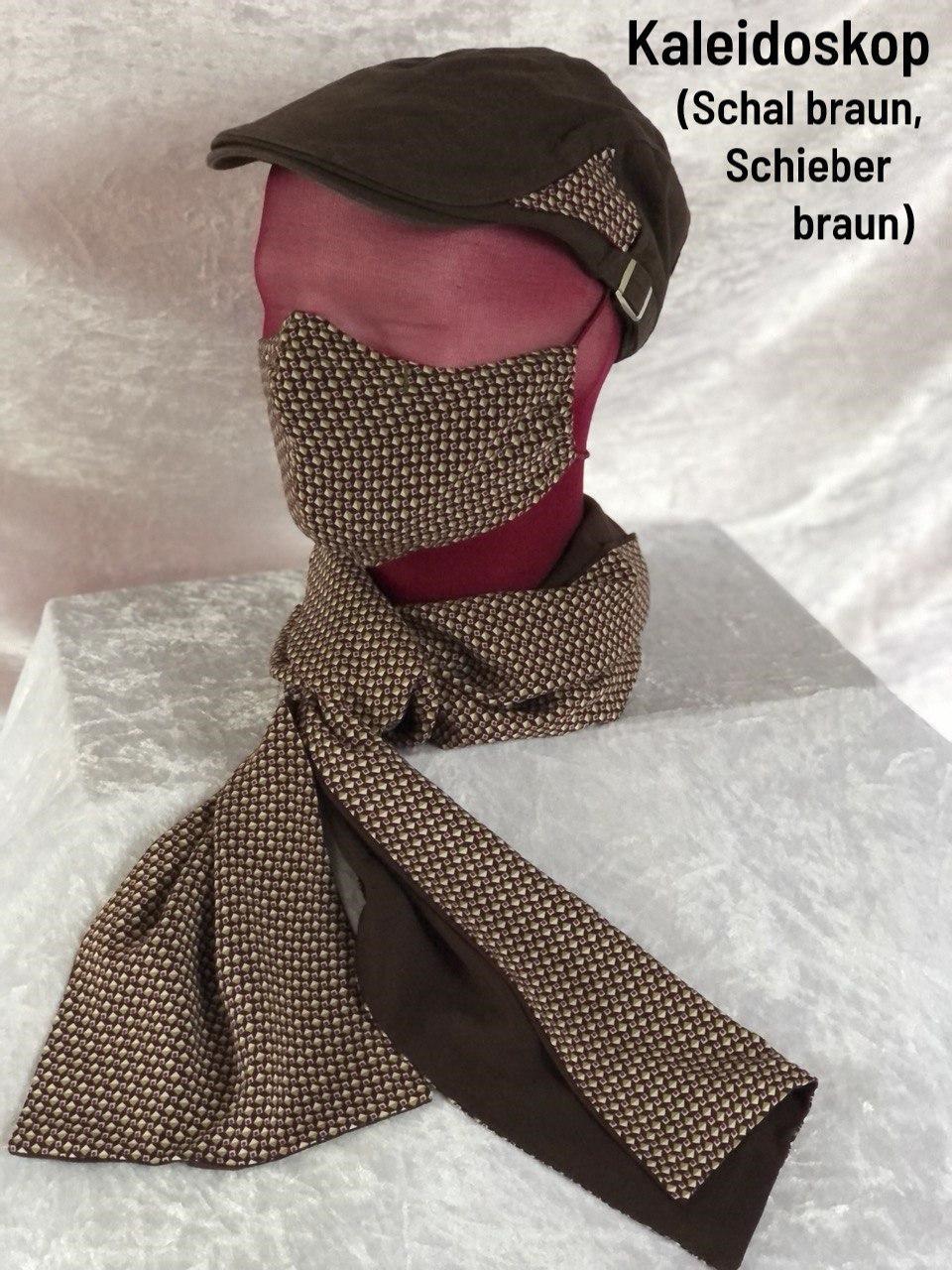 B5 - Maske + Schal braun + Schieber braun