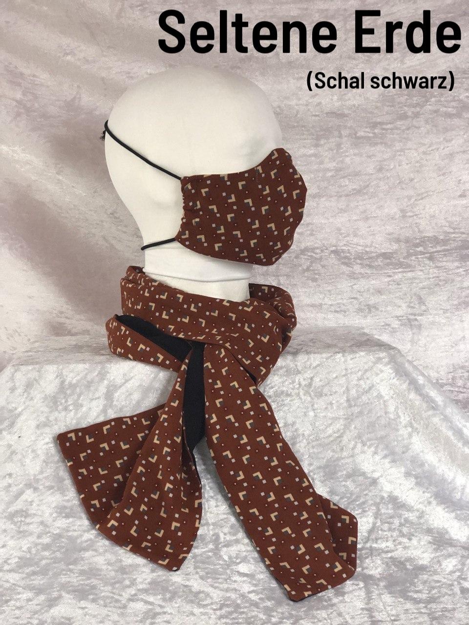 A1 - Maske + Schal schwarz