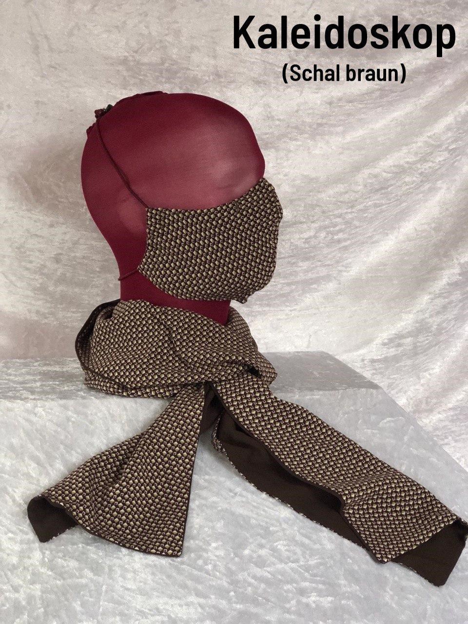 A3 - Maske + Schal braun