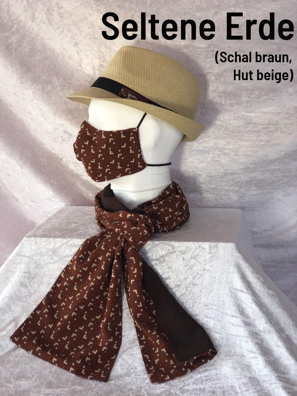F2 - Maske + Schal + Hut beige