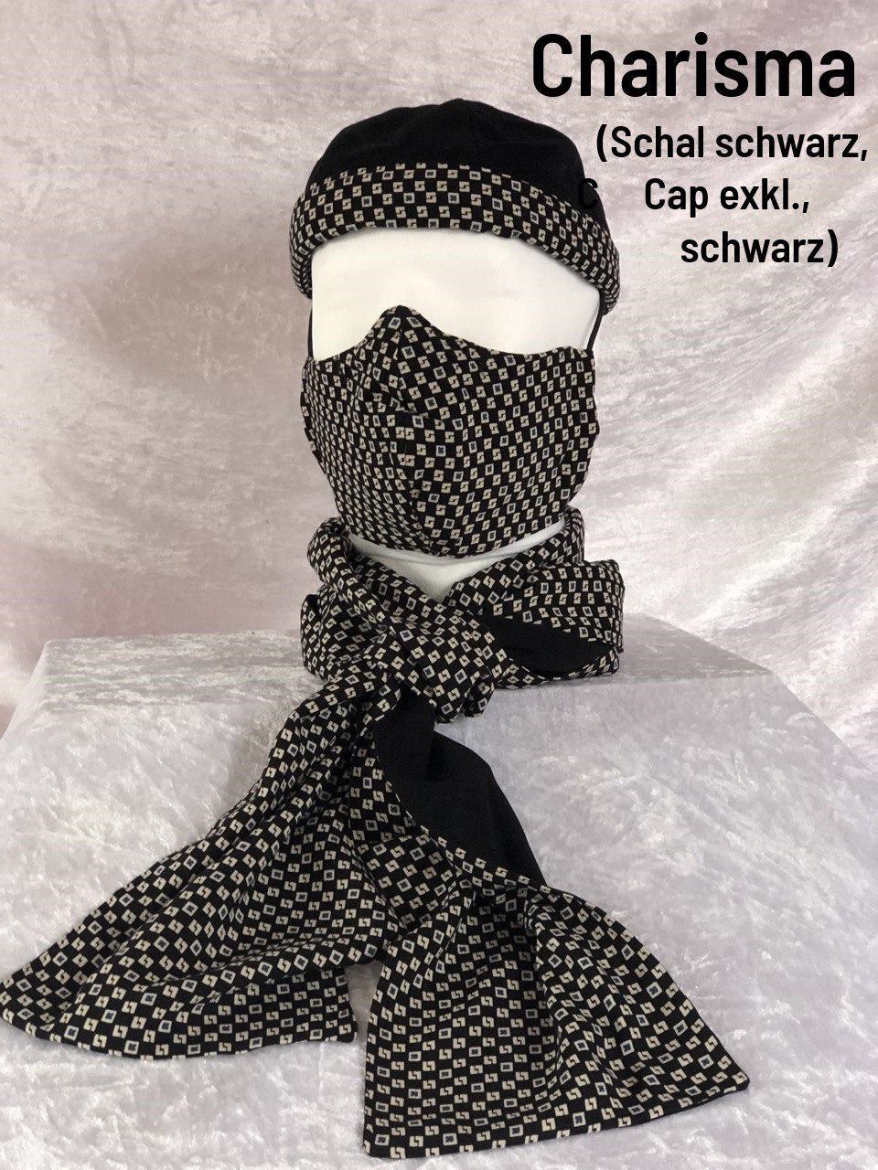 C1 - Maske + Schal schwarz + Cap exklusiv