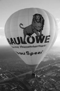"""Heißluftballon D-OLLQ """"Baulöwe"""" Thunder"""