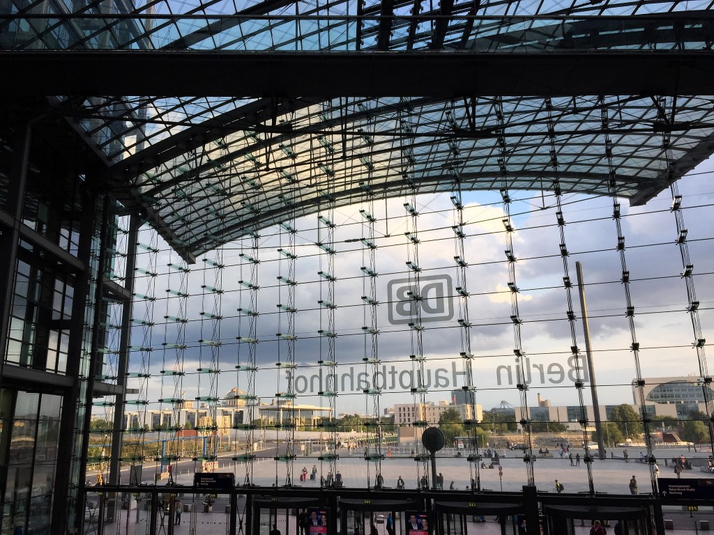 Central Train Station  .  Berlin Germany 2015