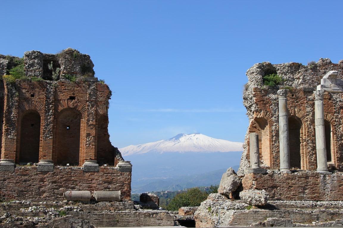 Anfiteatro Greco | Taormina | Vista sul Etna II