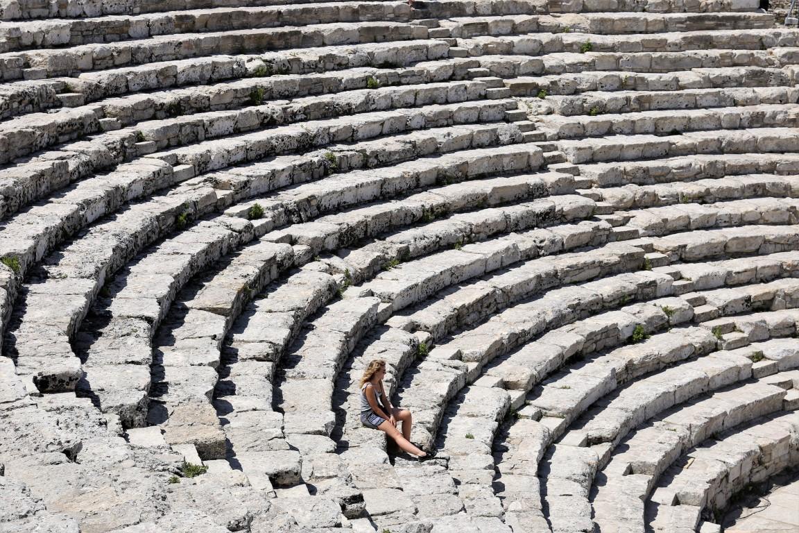 Teatro greco dell'antica città di Segesta