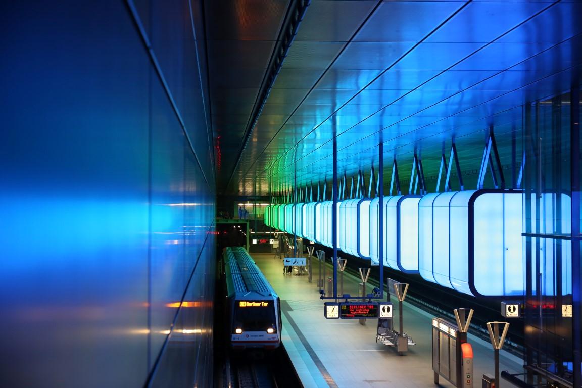 U4 Hafen City Metro Station II  .  Hamburg Germany 2017