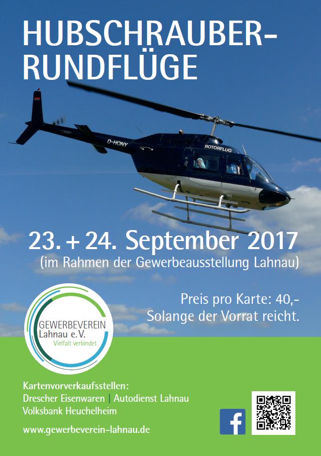 Hubschrauber-Rundflüge bei der Gewerbeausstellung Lahnau