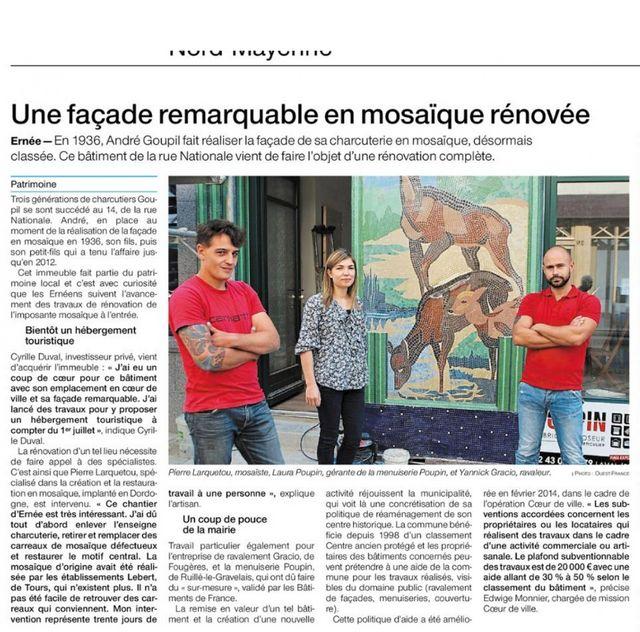 mosaïque restauration Mayenne