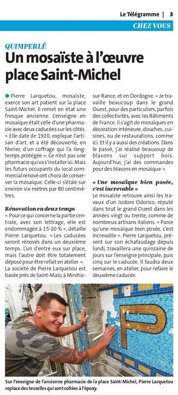 mosaïque restauration Bretagne
