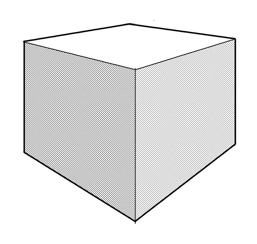 これが2点パースの箱の見え方