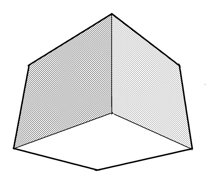 これが3点パースでの箱の見え方