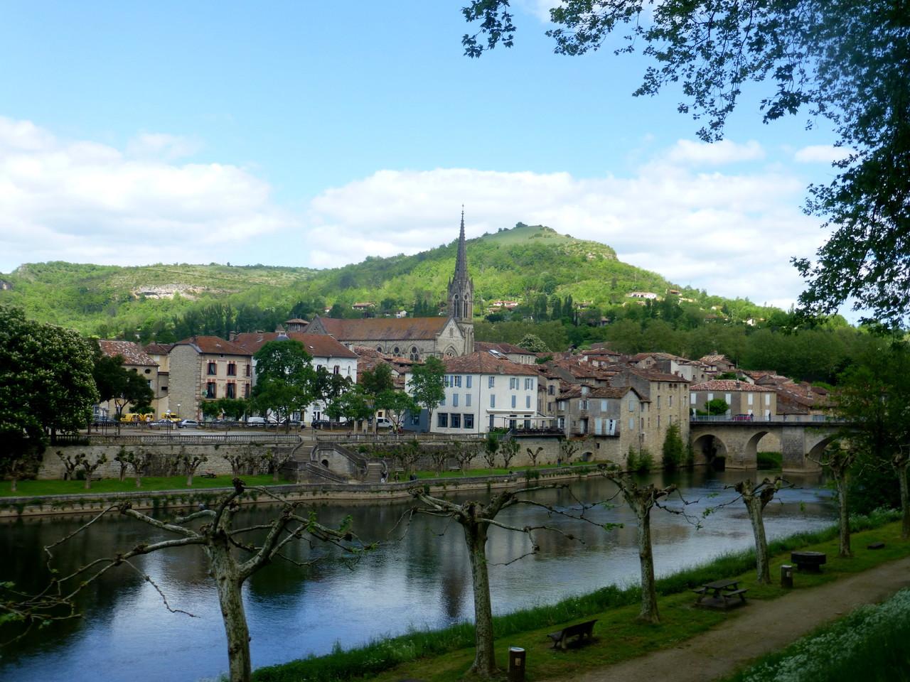 Vue générale de Saint Antonin Noble Val