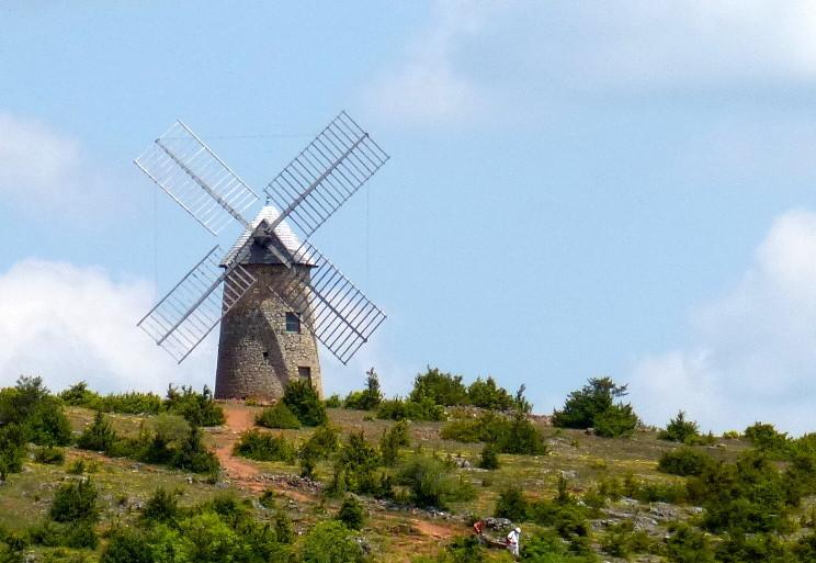 Moulin (restauré) de La Couvertoirade