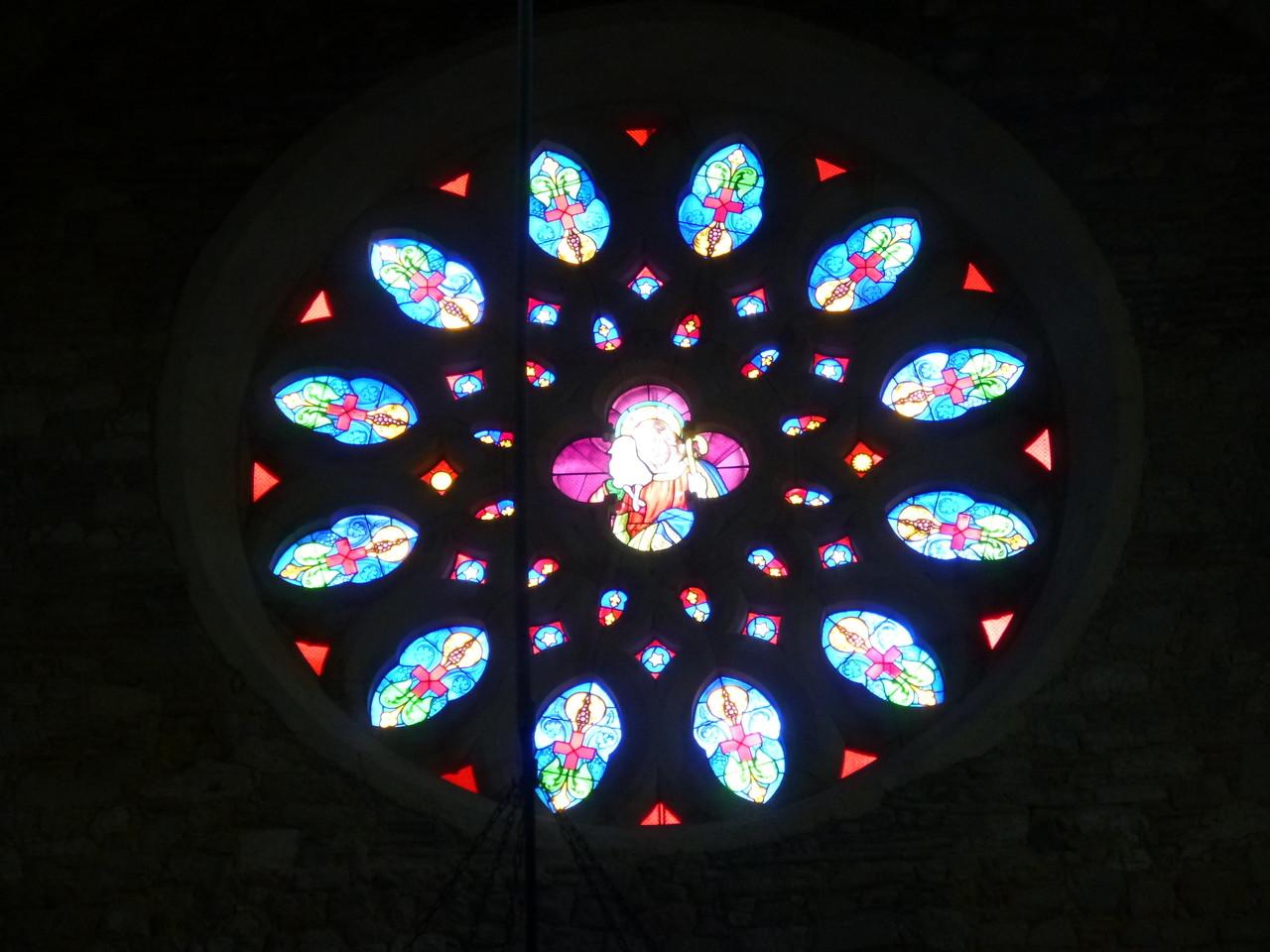 Rosace au couchant - Cathédrale d'Eauze